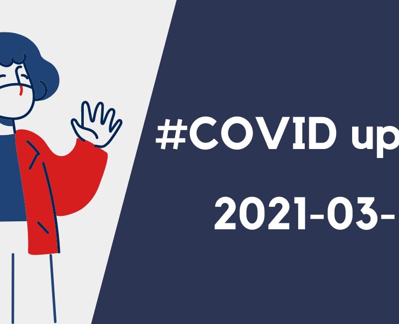#COVID UPDATE AU LIFV, 19 MARS 2021