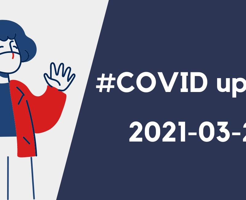 #COVID UPDATE AU LIFV, 26 MARS