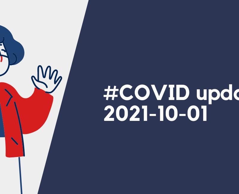 #COVID update, 1er octobre 2021