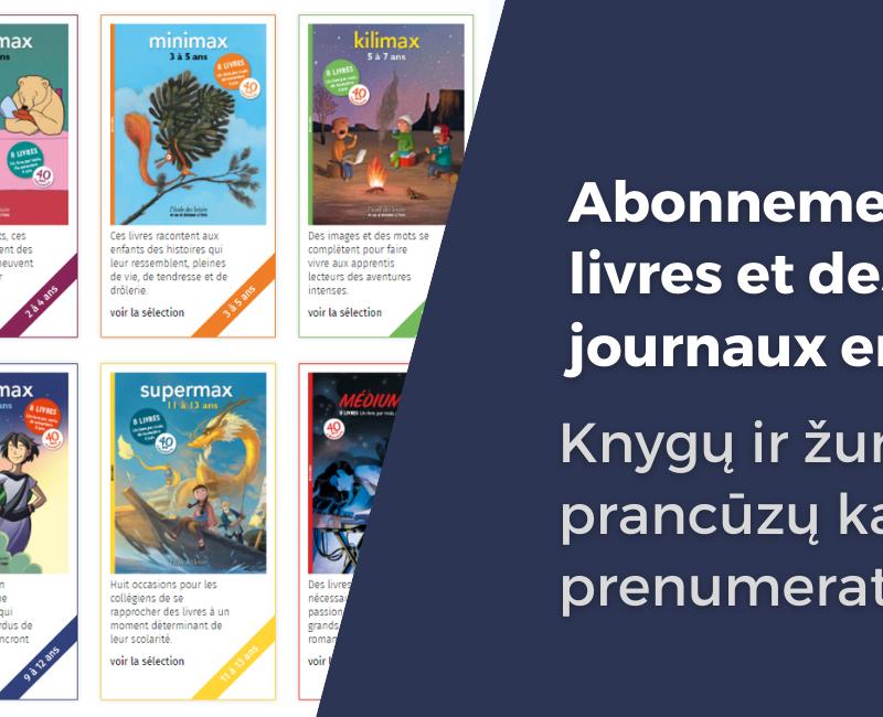 Abonnement à des livres et magazines en français: tarif préférentiel pour nos élèves